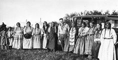 Cree women with photog Donald A Cadzow